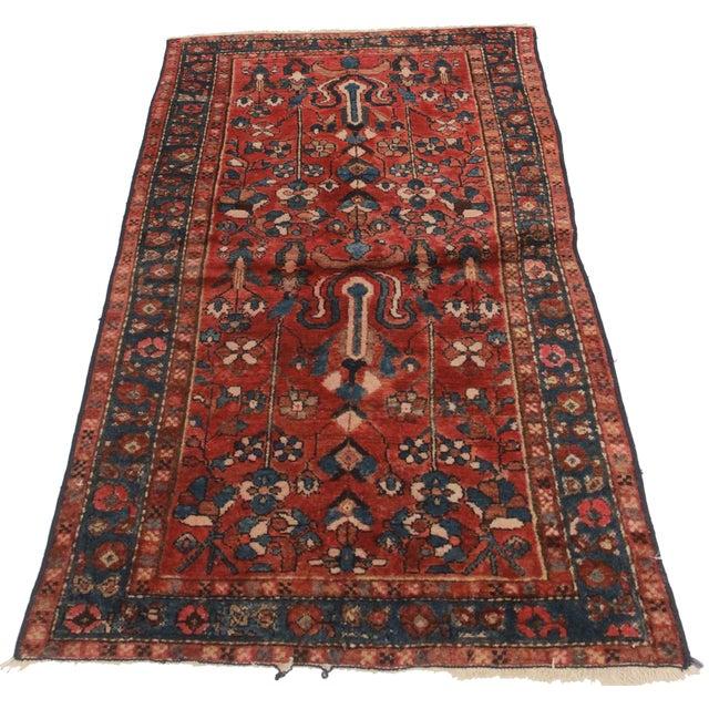 Vintage Persian Hamedan Wool Rug - 3′3″ × 5′10″ - Image 2 of 2