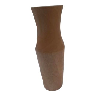 Late 20th Century Miniature Hand-Crafted Maple Wood Vase For Sale