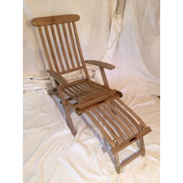 Vintage RMS Queen Elizabeth Cruise Line Deck Chair - Image 2 of 11