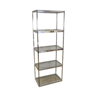 Chrome & Glass Quality Mid-Century Modern Etagere