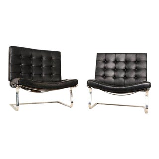 Ludwig Mies Van Der Rohe Tugendhat Lounge Chairs for Knoll - A Pair For Sale