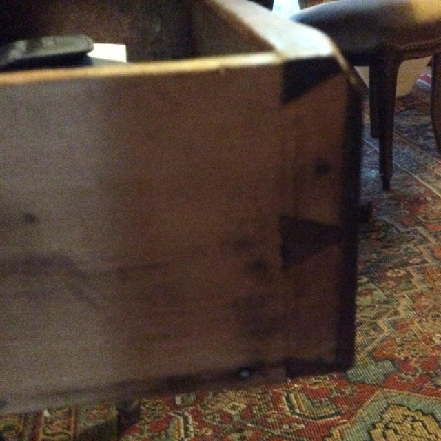 Primitive American Pine Table With Drawer For Sale - Image 4 of 13