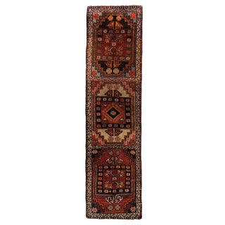 1960s Turkish Red and Tan Wool Tribal Runner