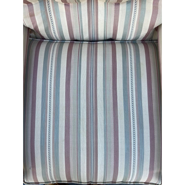Textile Milo Baughman Style Parsons Chair For Sale - Image 7 of 13