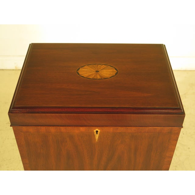 Federal Henkel Harris Inlaid Mahogany Model Silver Chest For Sale - Image 3 of 11