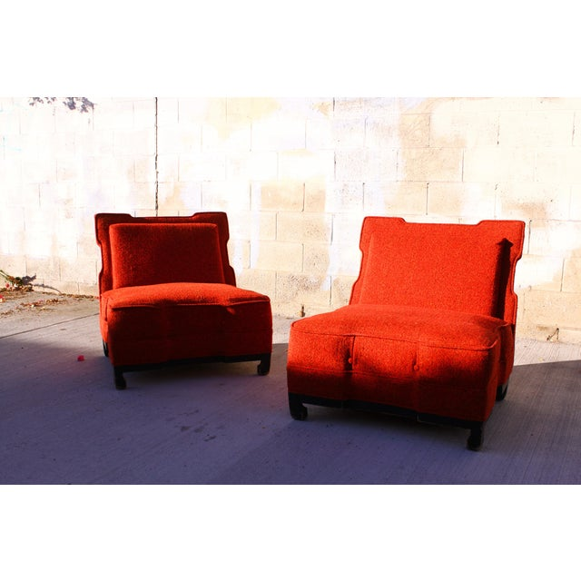 Rare James Mont Slipper Chairs - A Pair - Image 11 of 11