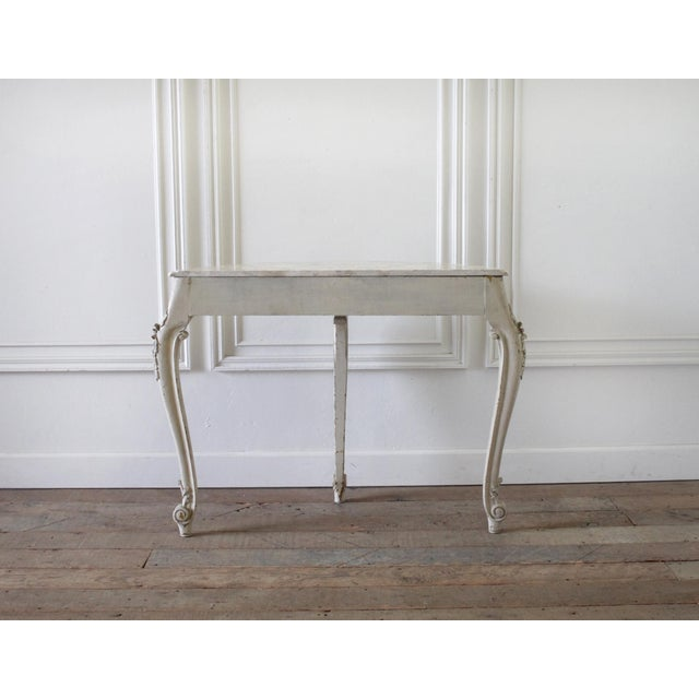20th Century French Carved Console Table With Marble Top For Sale - Image 4 of 13