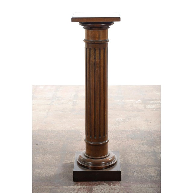 Antique Carved Colonial Walnut Pillar Pedestal - Image 7 of 10