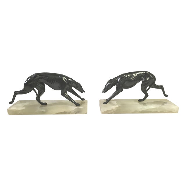 1930s Greyhound Bookends - A Pair - Image 1 of 6