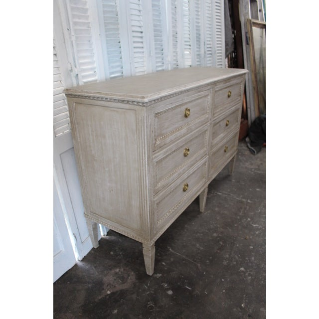 Early 20th Century 20th Century Swedish Gray Finish Chest of Drawers For Sale - Image 5 of 8