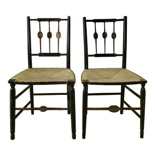 Early 19th Century Oval Medallion Fancy Chairs- a Pair For Sale