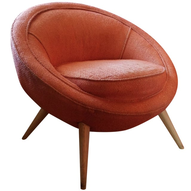 Jean Royere-Style Egg Chair - Image 1 of 5