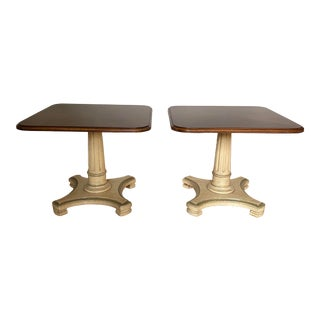 Vintage 20th Century Henredon Empire Style Side Tables - a Pair For Sale