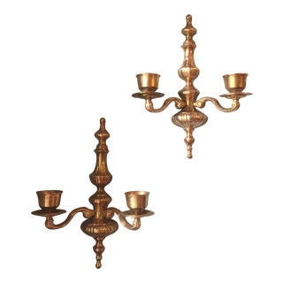Solid Brass Neoclassical Sconces - A Pair