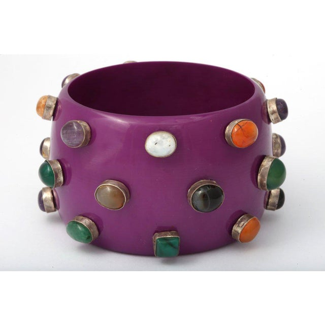 Purple Bangle Bracelet For Sale In New York - Image 6 of 8