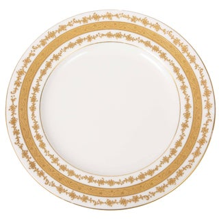 Six (6) Custom Tiffany Antique English Gilt Dessert Plates For Sale
