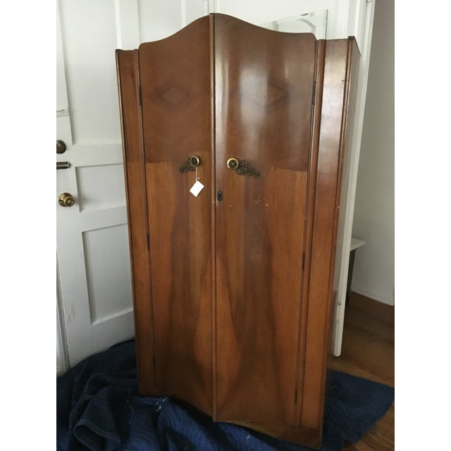 Vintage 1930's Wooden Armoire - Image 2 of 6