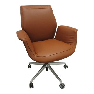 Poltrona Frau Downtown Executive Leather Chair For Sale