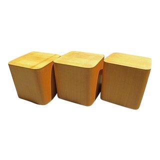 1970s Mid Century Modern Paul Mayen Intrex Cube Tables - Set of 3 For Sale