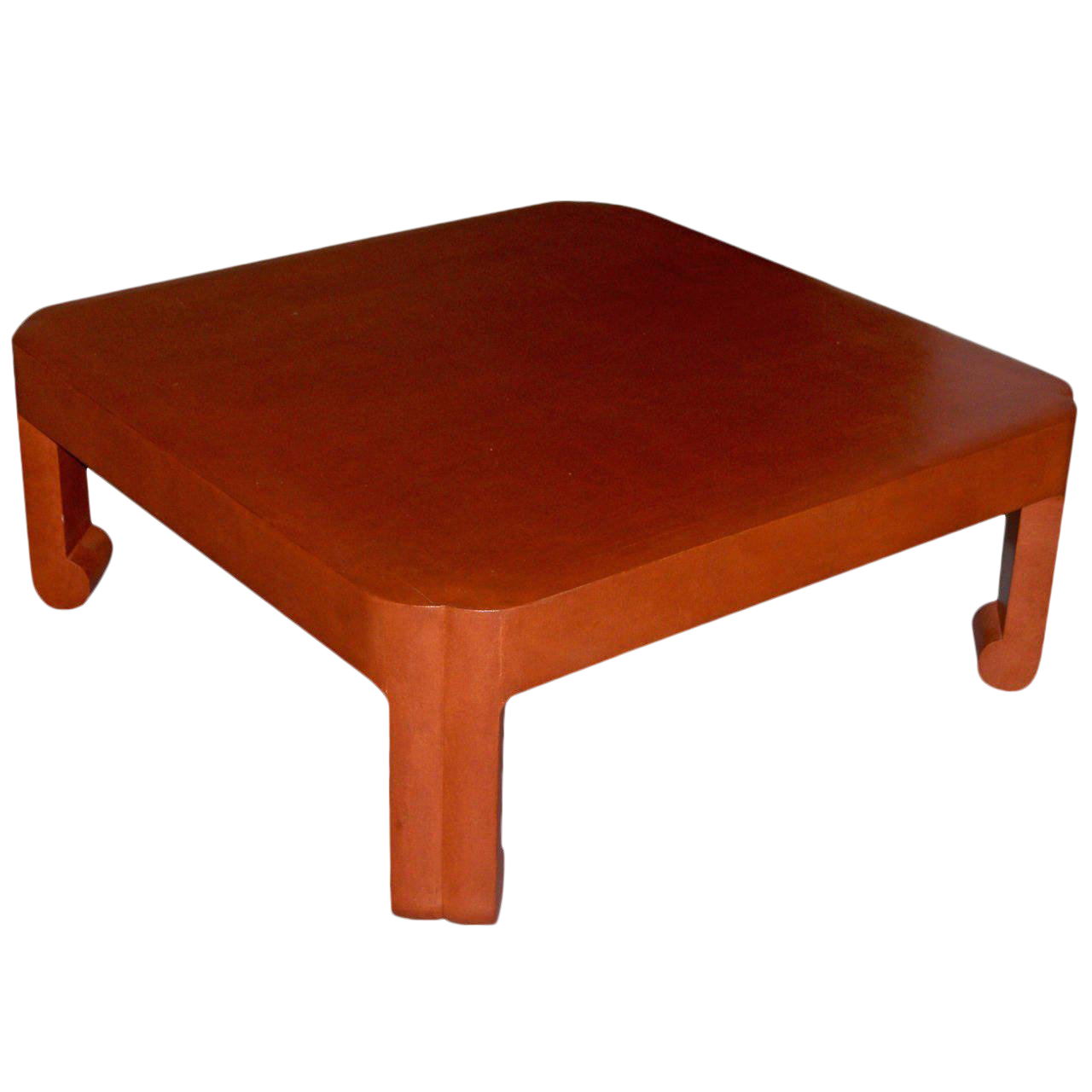 S Modern Mark Hampton Custom Linen Wrapped Low Table For Sale