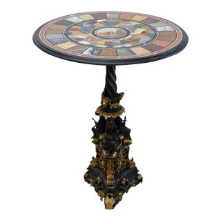 Fine Specimen Marble and Micromosaic Top Table For Sale