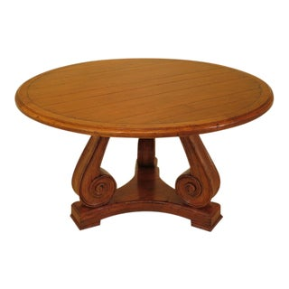 "Guy Chaddock 54"" Round Distressed Dining Room Table"
