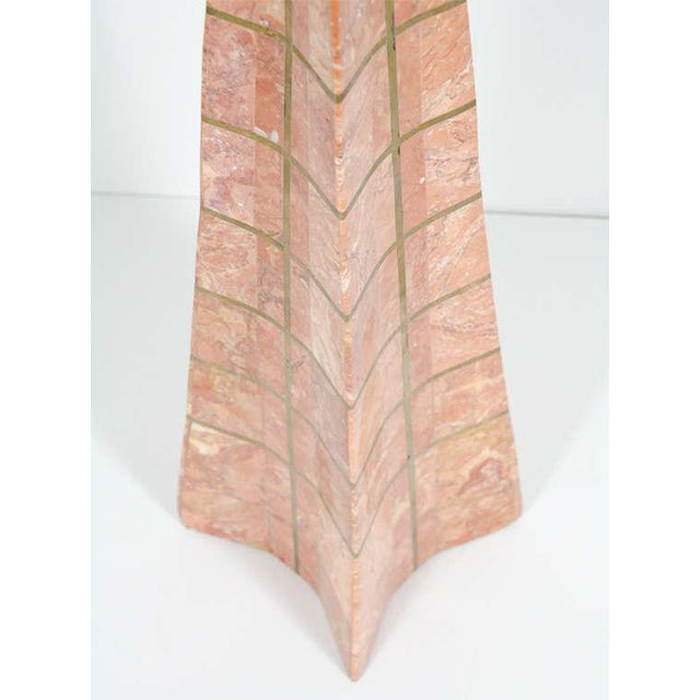 Pair of Bronze Inlay and Stone Obelisks by Casa Bique For Sale In New York - Image 6 of 10