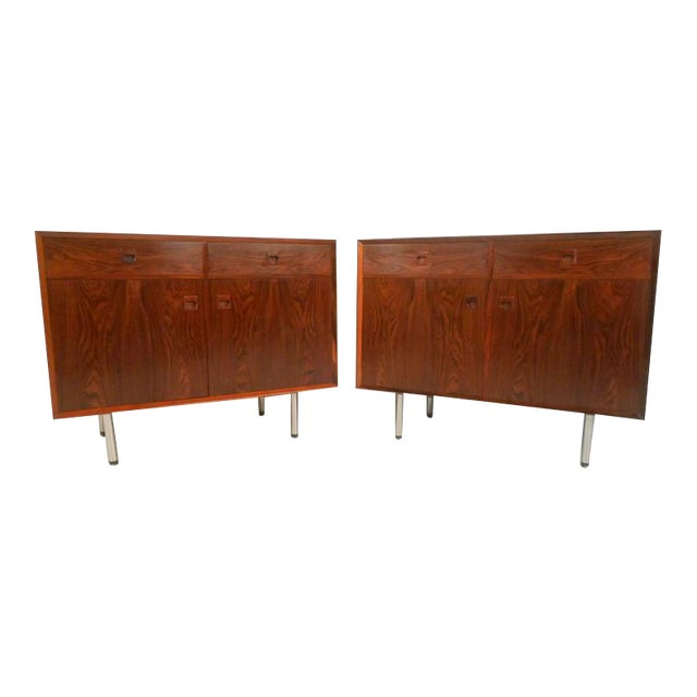 Danish Modern Rosewood Cabinets - a Pair For Sale