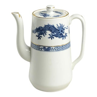 1960s Hammersley Blue Dragon Coffee Pot & Lid For Sale