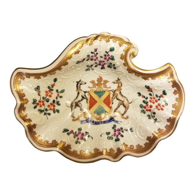 Vintage Samson Armorial Crest Dish For Sale