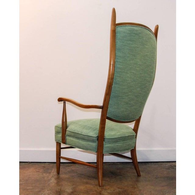 1950's Maxwell Royal American Designed High Back Upholstered Chairs - a Pair For Sale In Richmond - Image 6 of 8
