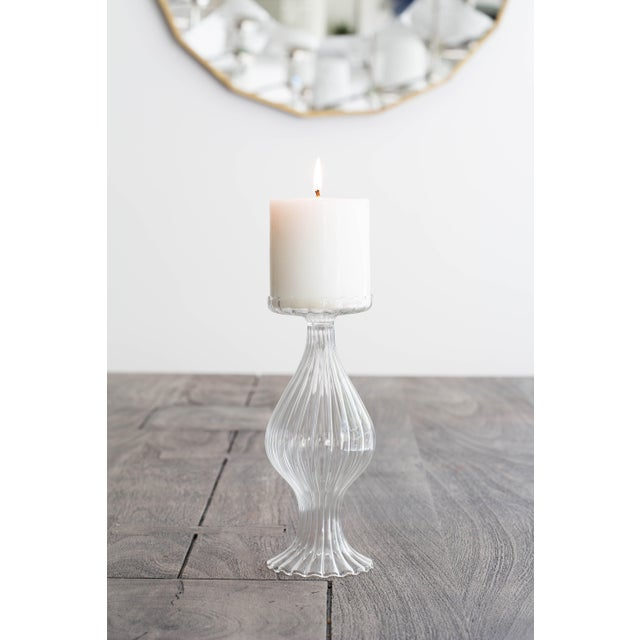 Contemporary Vietri Ottico Bud Vase/Candleholder from Kenneth Ludwig Home - a Pair For Sale - Image 3 of 4