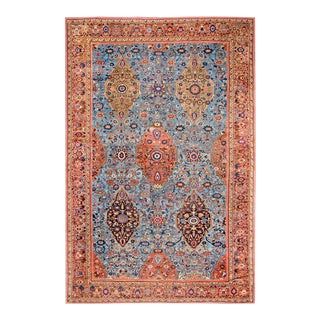 Antique Sultanabad Persian Rug For Sale