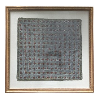 Custom Framed Vintage Silk Indian Textile For Sale