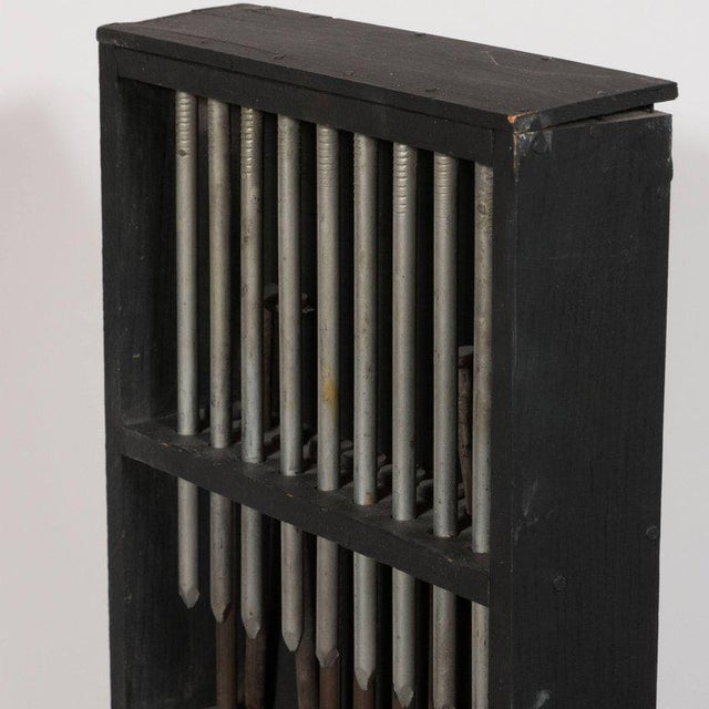 1960s Untitled- Metal and Painted Wood Construction, in the Style of Louise Nevelson For Sale - Image 5 of 8