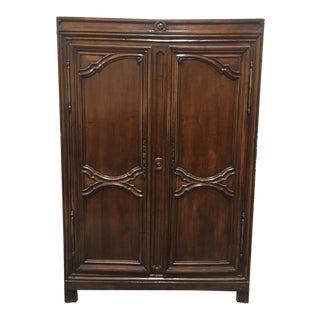 ​18th C. French Louis XIV Walnut Armoire