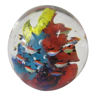 1960s Art Glass Orb, Aquarium For Sale