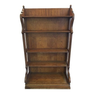 Vintage Solid Fruitwood Shelf For Sale