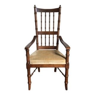 Faux Bamboo Accent Chair For Sale