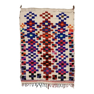 1950s Colorful Moroccan Rug - 5′2″ × 7′1″ For Sale