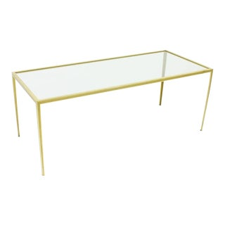 Brass and Glass Coffee Table by Vereinigte Werkstätten, Germany 1960s For Sale