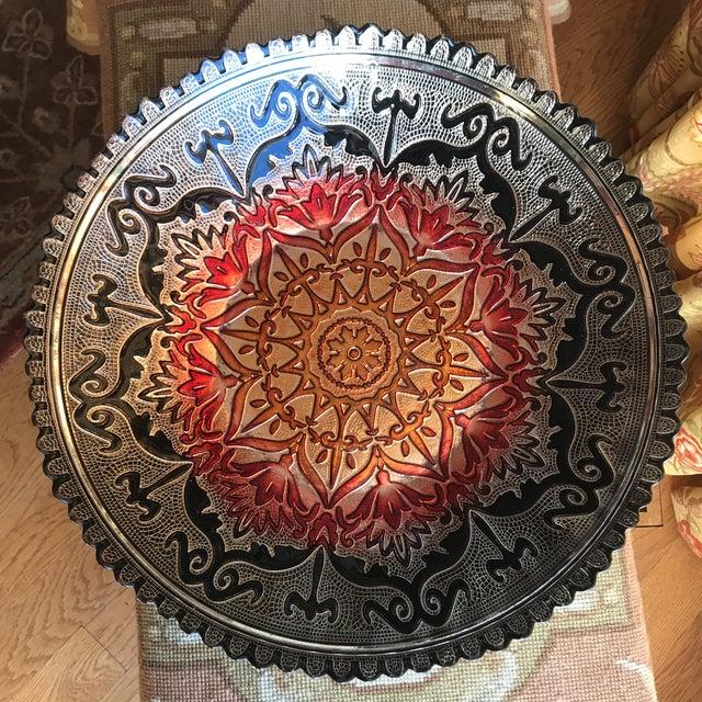 Large Scalloped Edge Decorative Serving Bowl - Image 5 of 6