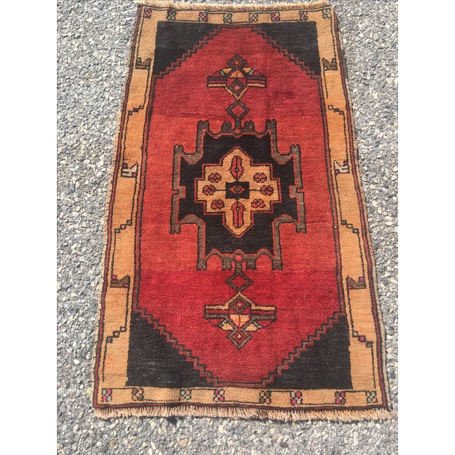 Vintage Anatolian Turkish Rug - 2′ × 3′6″ - Image 3 of 6