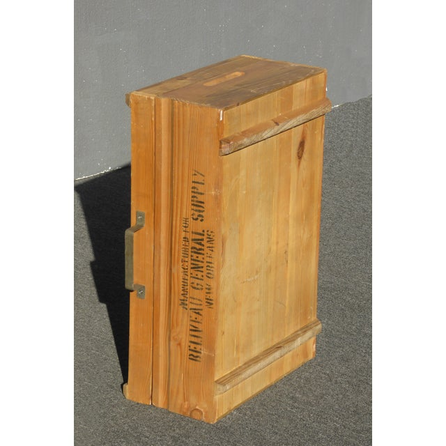 Vintage Industrial Tools Supplies Storage Box for Beliveau General Supply For Sale - Image 11 of 13