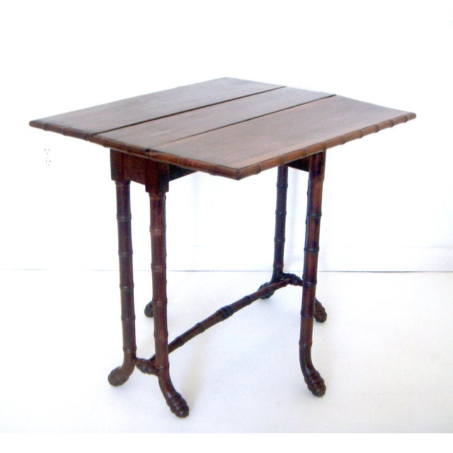 Antique Faux Bamboo Gate Leg Table - Image 2 of 8