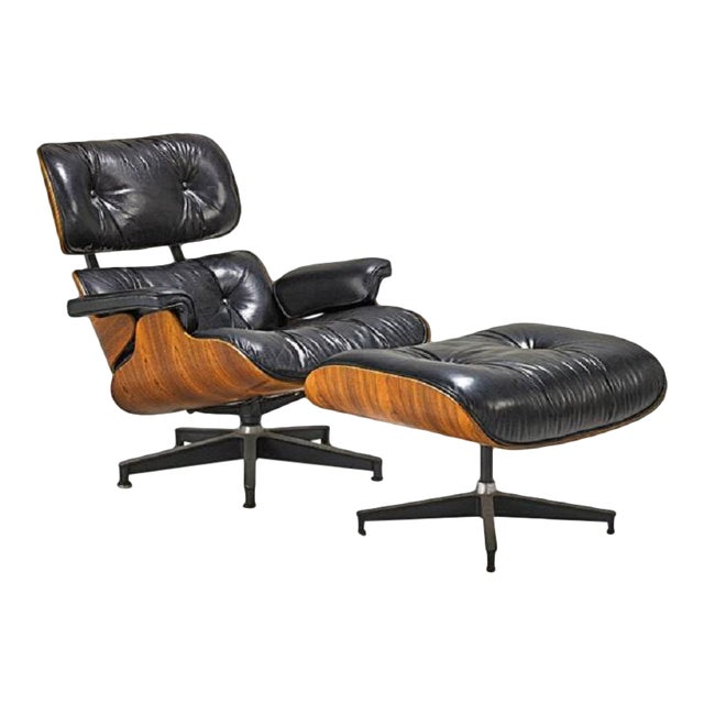 Charles and Ray Eames Lounge Chair (No. 670 and 671) For Sale