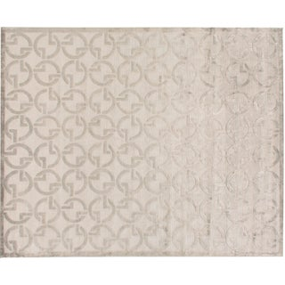 Stark Studio Rugs Contemporary Gemley Bamboo Silk Rug - 10′ × 14′2″ For Sale