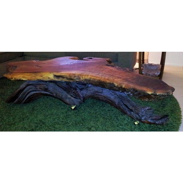 Live Edge Redwood Coffee Table - Image 2 of 4