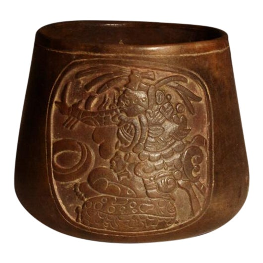 Mayan Terracotta Bowl For Sale