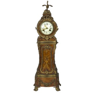 Miniature Ormolu-Mounted Burled Mantel Clock
